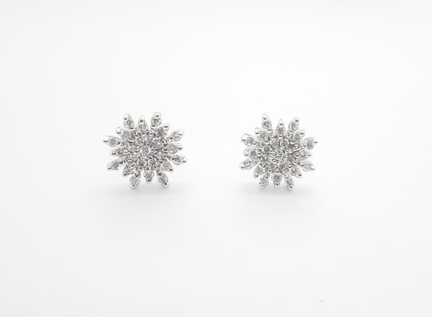 Sensi joyas alta joyería Granada plata compromiso PENDIENTES ORO 18K BRILLANTES  0,55 CTS