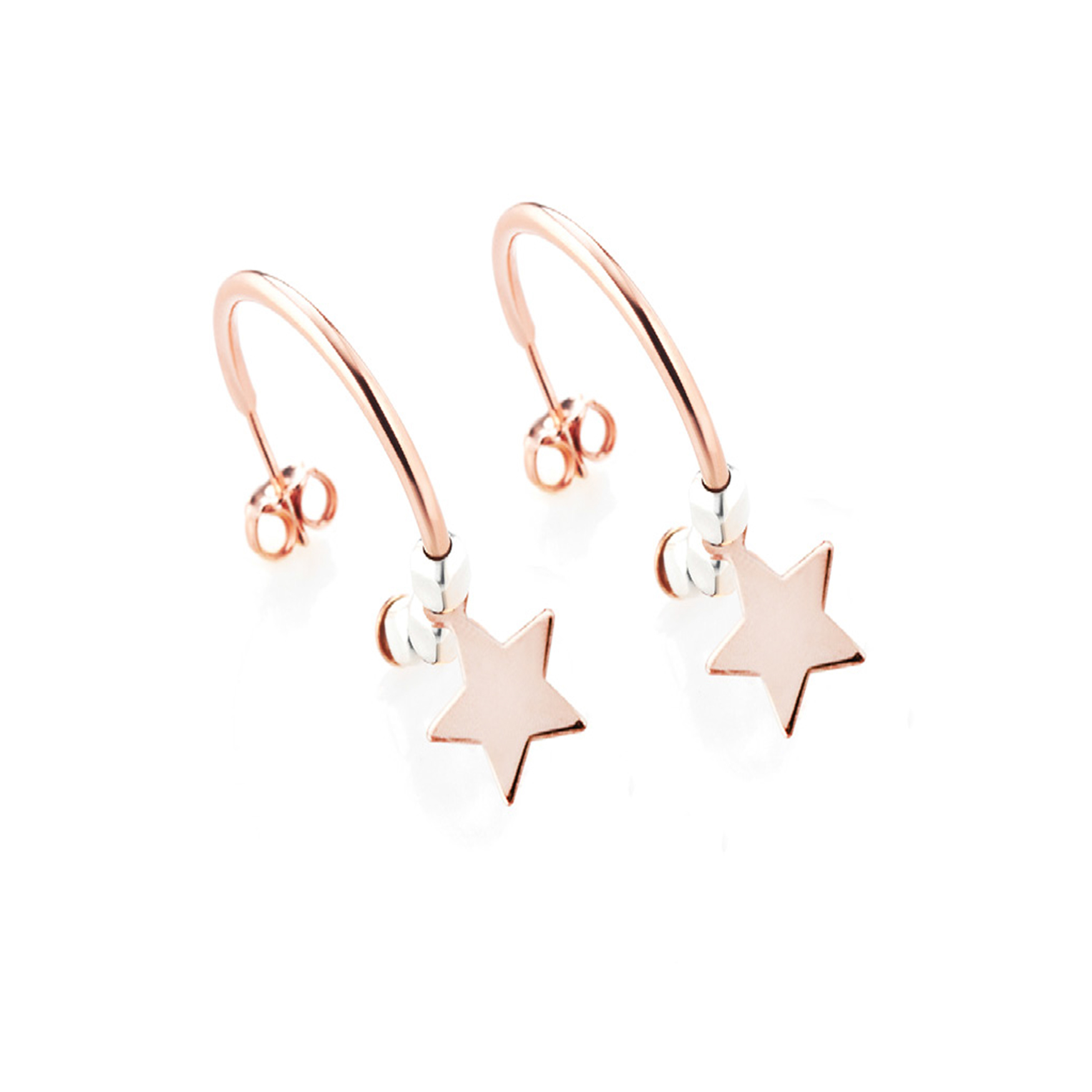 Sensi joyas jewellery Granada silver engagementSILVER EARRINGS COVERED  ROSE GOLD