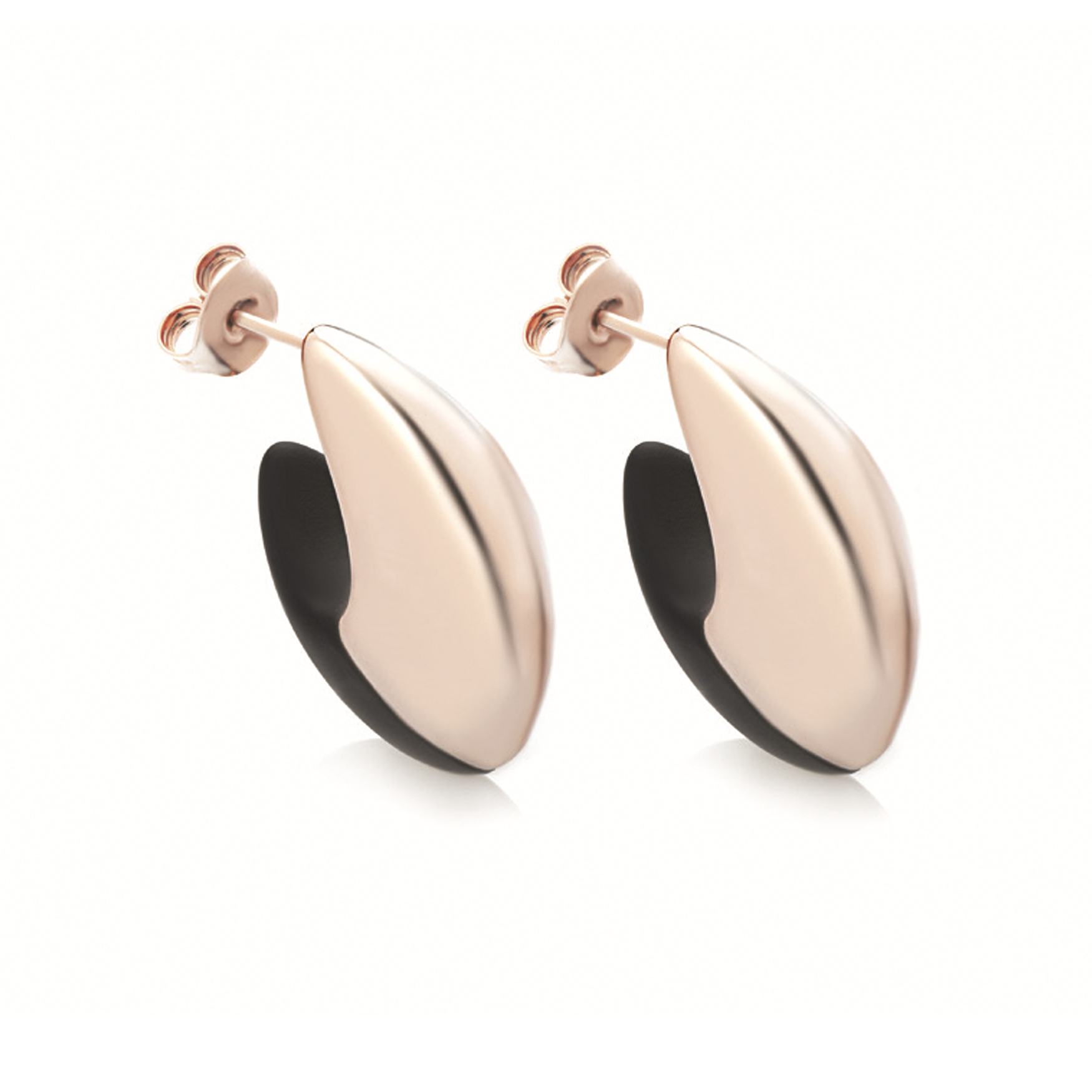 Sensi joyas jewellery Granada silver engagementSILVER EARRINGS COVERED  ROSE GOLD  AND RUBBER
