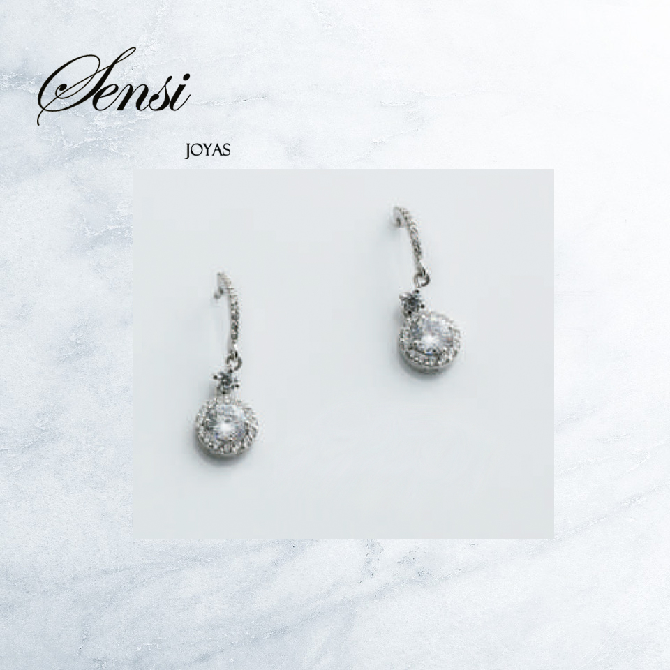 Sensi joyas jewellery Granada silver engagementGOLD AND CIRCONITES  EARRINGS
