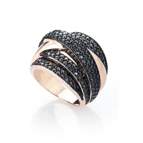 Sensi joyas jewellery Granada silver engagementSILVER RING COVERED WITH  ROSE GOLD AND CIRCONITE