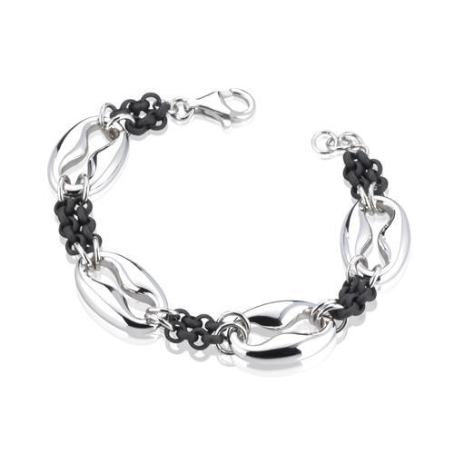 Sensi joyas jewellery Granada silver engagementSILVER AND ACRYLIC BRACELET