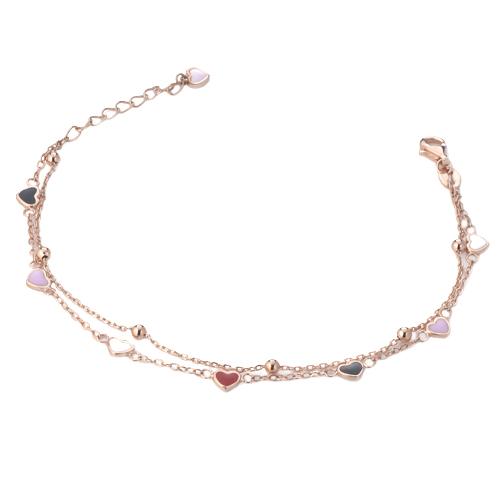 Sensi joyas jewellery Granada silver engagementSILVER BRACELET COVERED WITH ROSE GOLD