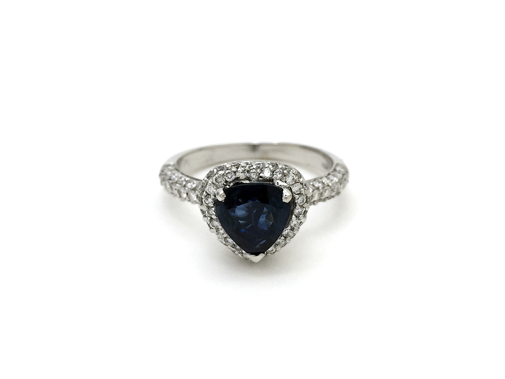 Sensi joyas alta joyería Granada plata compromiso ANILLO ORO BLANCO  18K BRILLANTES  0,90 CTS