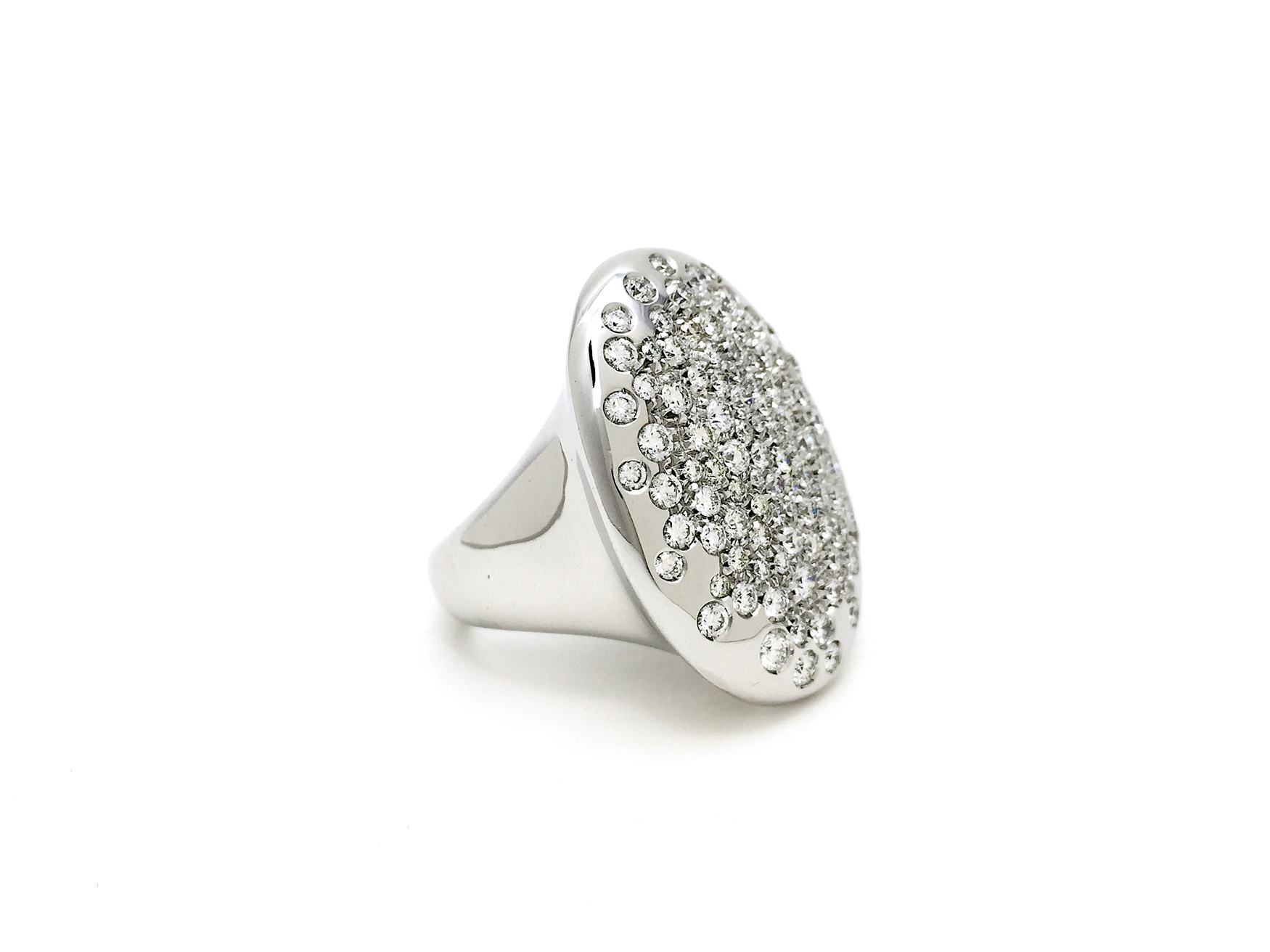 Sensi joyas alta joyería Granada plata compromiso ANILLO ORO 18K  BRILLANTES   2,15 CTS