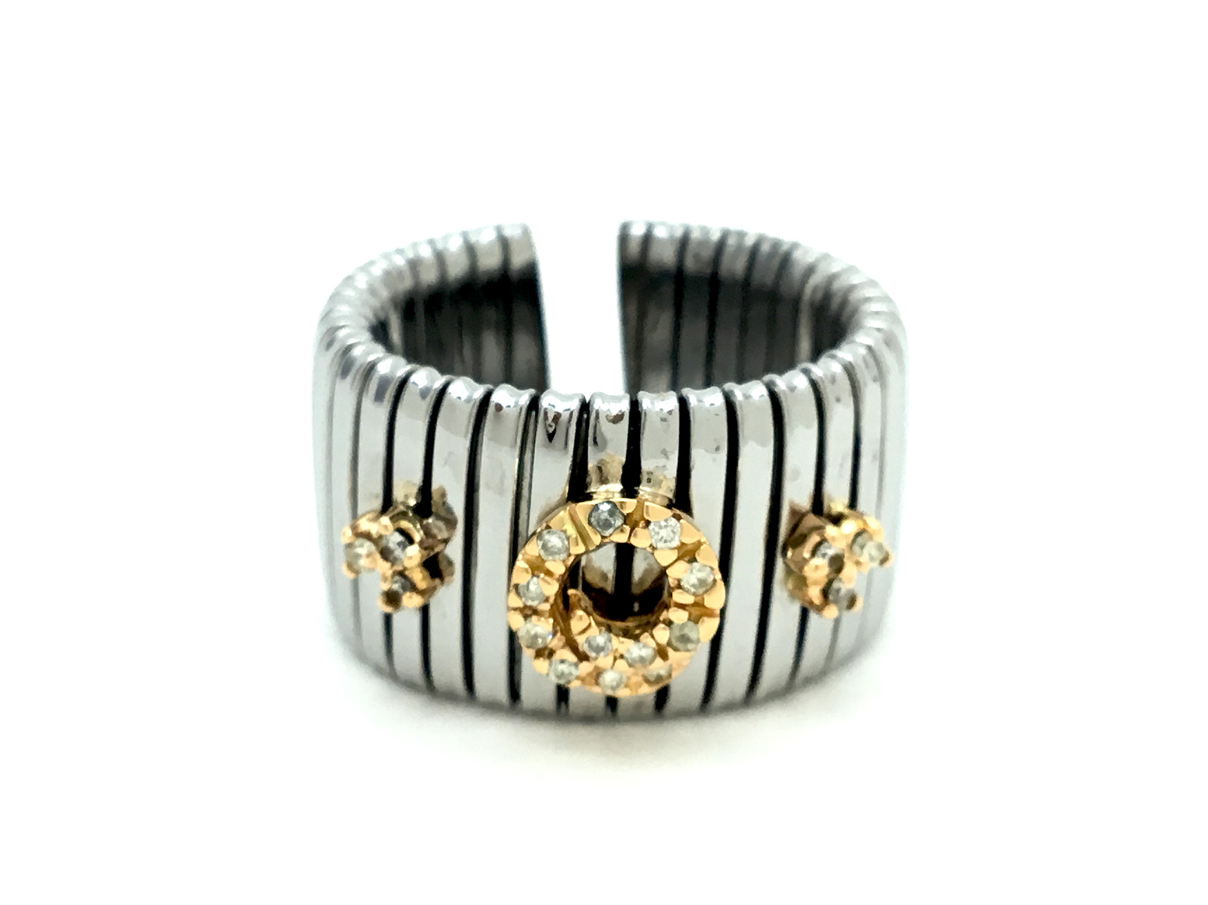 Sensi joyas jewellery Granada silver engagementGOLD AND STEEL RING