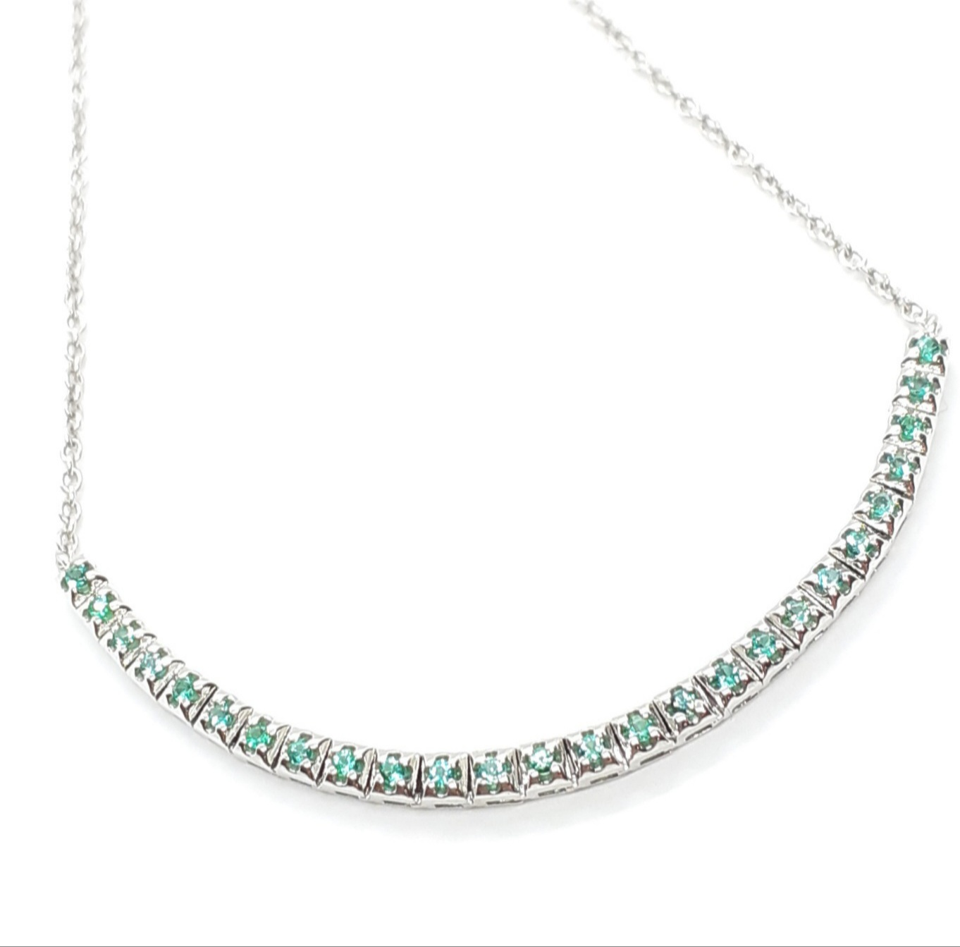 Sensi joyas alta joyería Granada plata compromiso PULSERA ORO 18K  ESMERALDAS  0,25 CTS