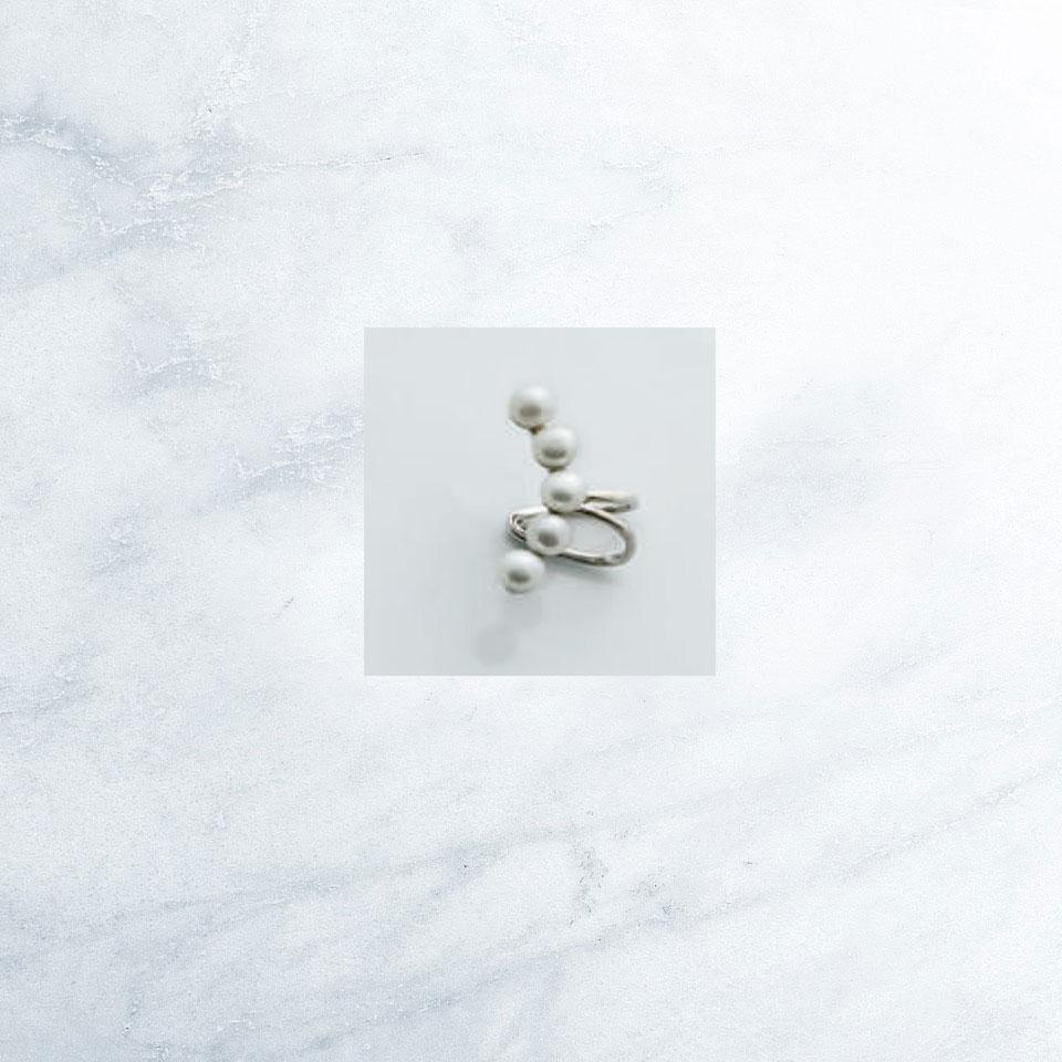 Sensi joyas alta joyería Granada plata compromiso PENDIENTE  CARTILAGO PLATA Y PERLAS CULTIVADAS
