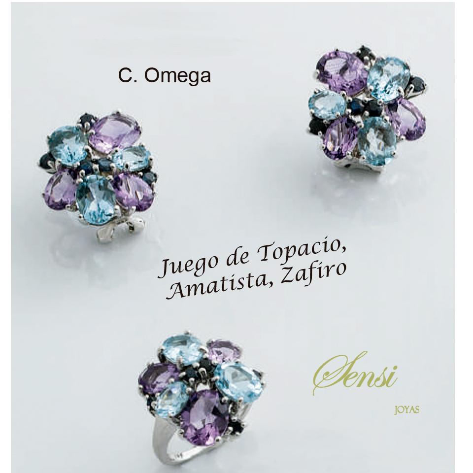 Sensi joyas jewellery Granada silver engagementSILVER RING AND SILVER EARRINGS SET