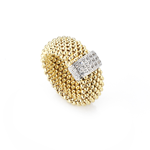 Sensi joyas jewellery Granada silver engagementSILVER RING COVERED WITH  GOLD AND CIRCONITE