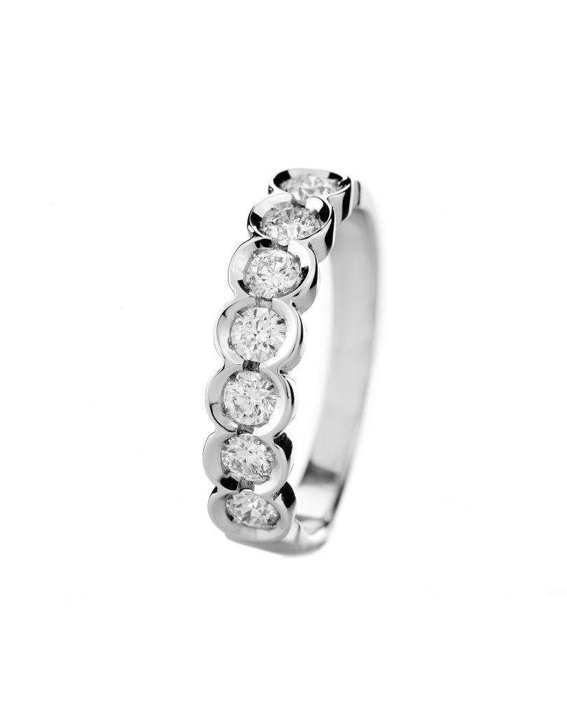 Sensi joyas alta joyería Granada plata compromiso ANILLO ORO 18K BRILLANTES 0.62 CTS