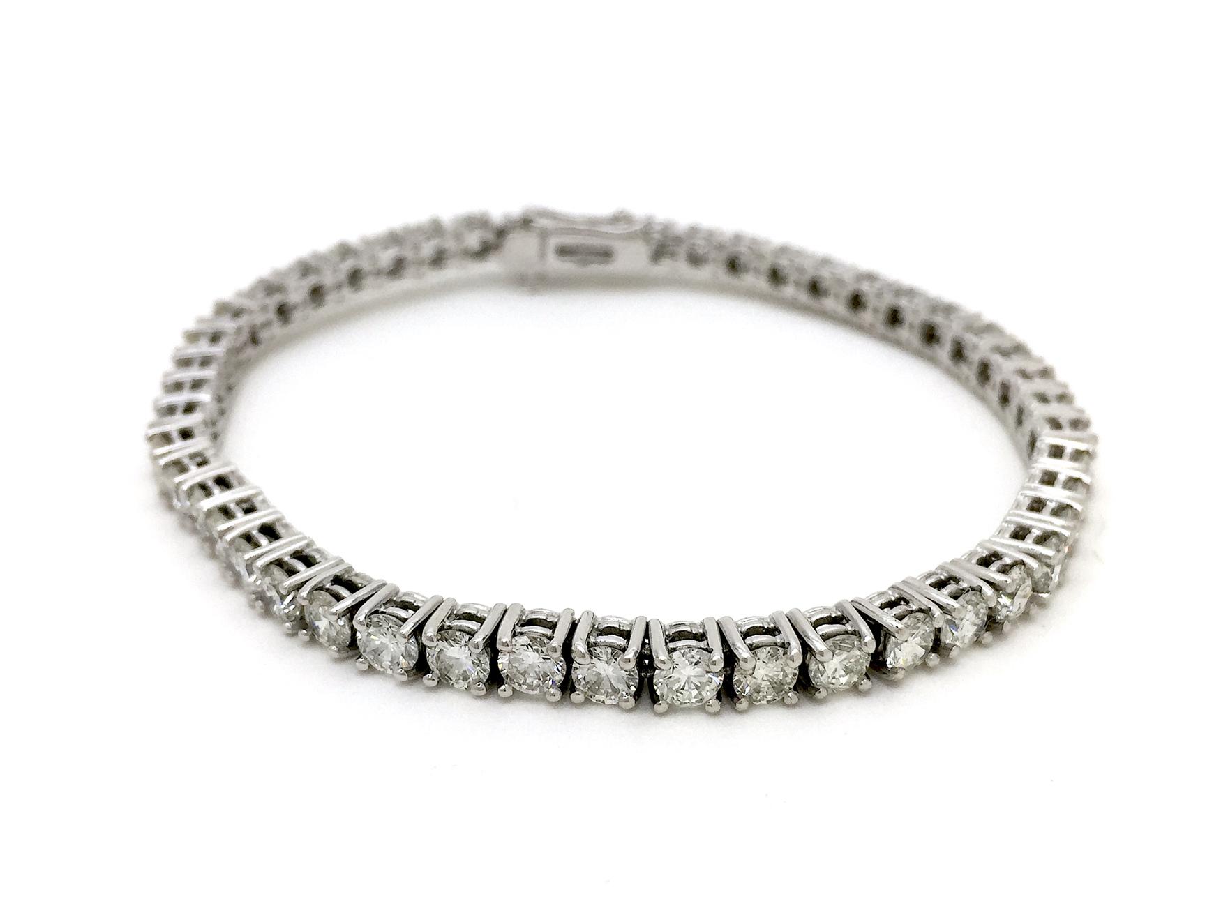Sensi joyas alta joyería Granada plata compromiso PULSERA  ORO 18K BRILLANTES  8,70 CTS