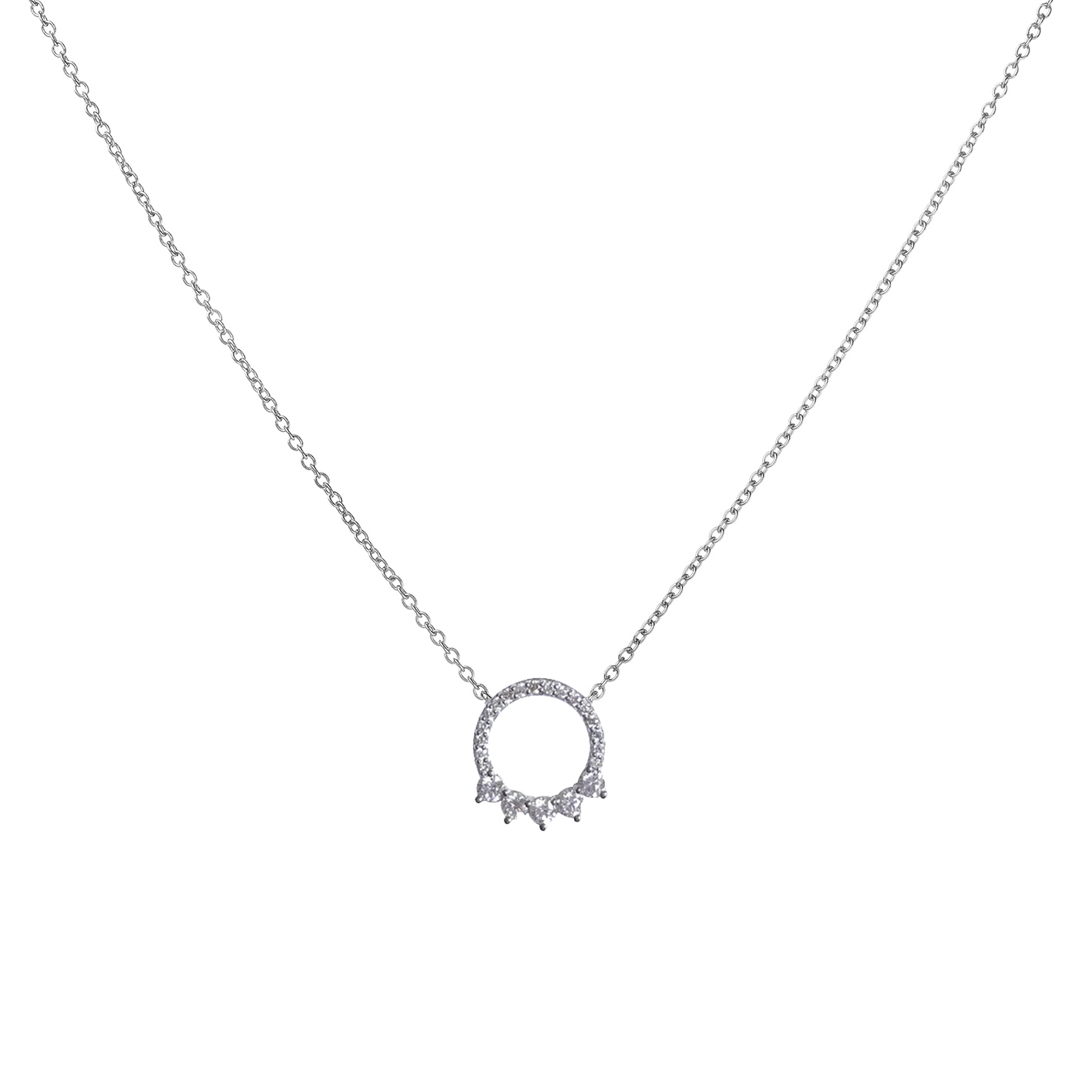 Sensi joyas jewellery Granada silver engagementDIAMONDS PENDANT  ( 42 cm )