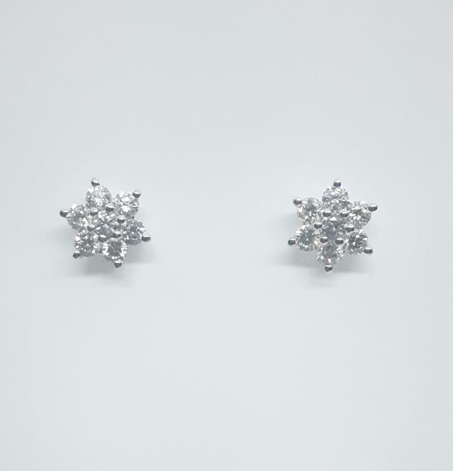 Sensi joyas alta joyería Granada plata compromiso PENDIENTES ORO 18K BRILLANTES  0,45 CTS