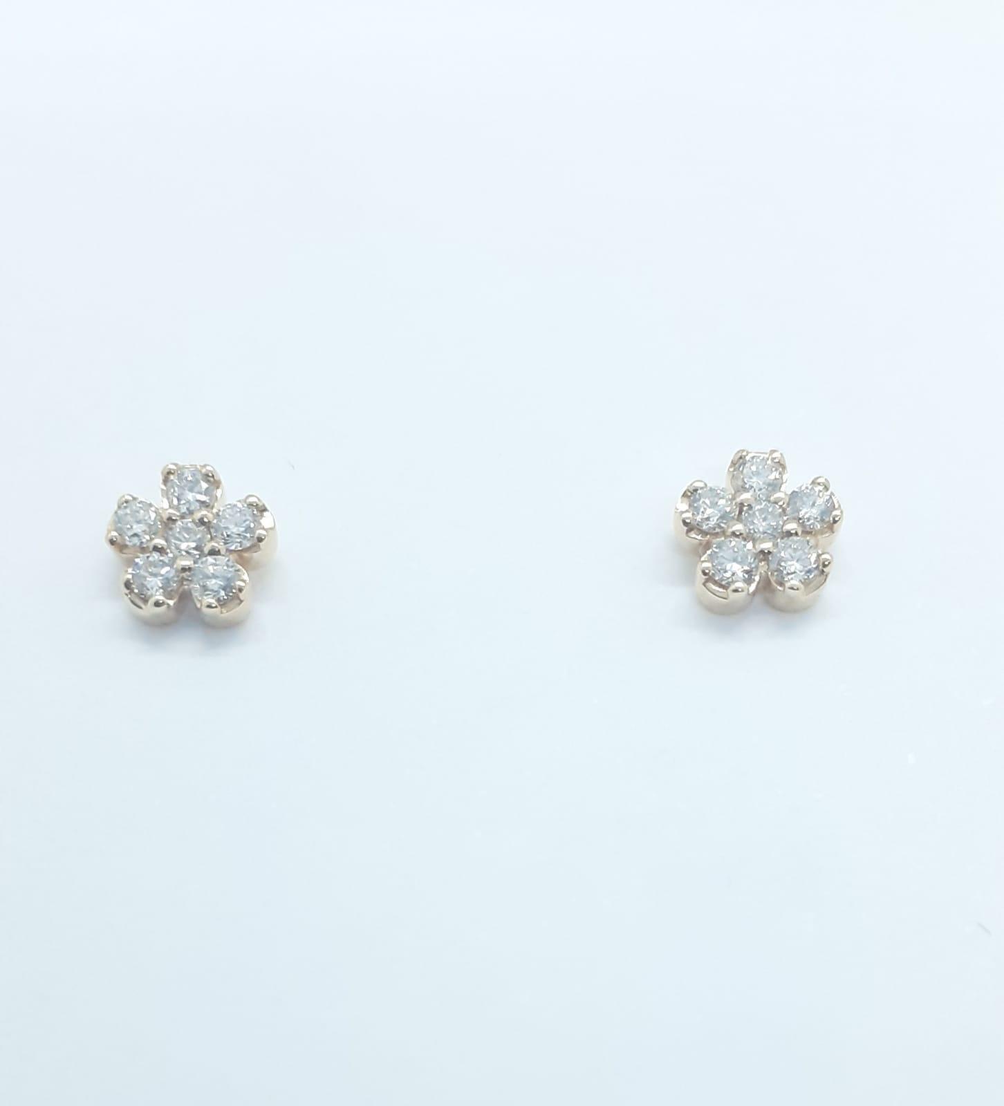 Sensi joyas alta joyería Granada plata compromiso PEDIENTES ORO ROSA 18K BRILLANTES  0,18 CTS