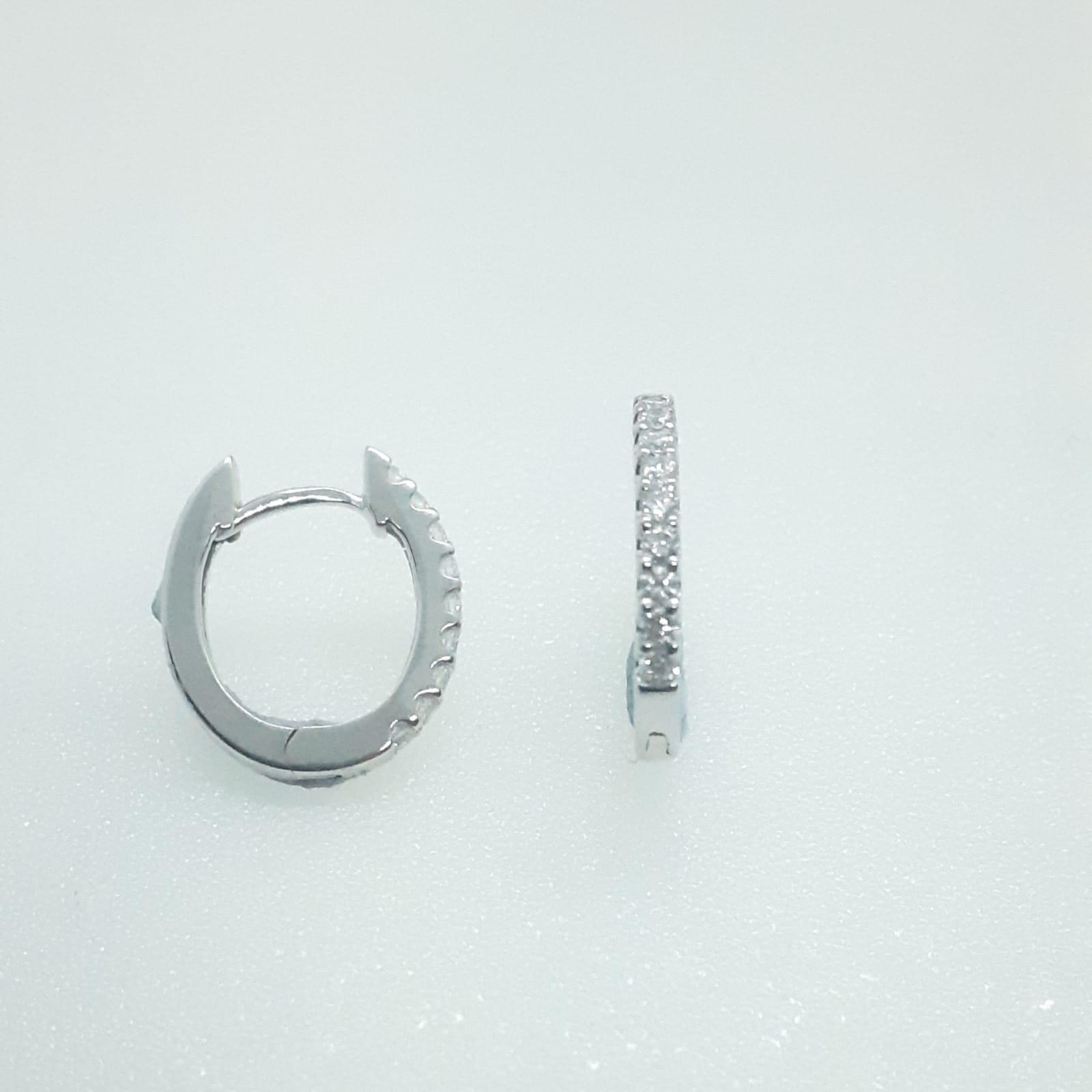 Sensi joyas jewellery Granada silver engagementDIAMONDS EARRINGS 8,4mm