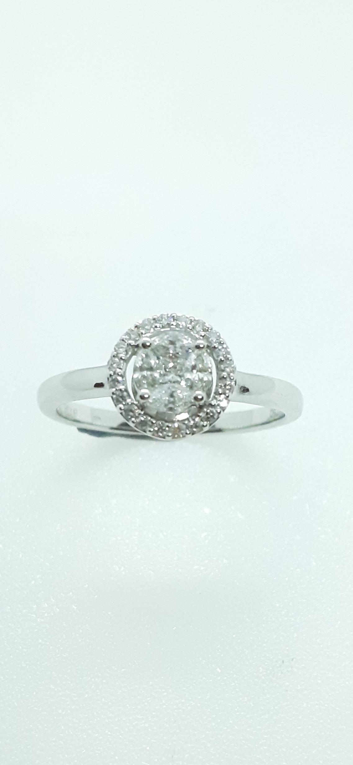 Sensi joyas alta joyería Granada plata compromiso SORTIJA ORO 18K BRILLANTES  0,30 CTS