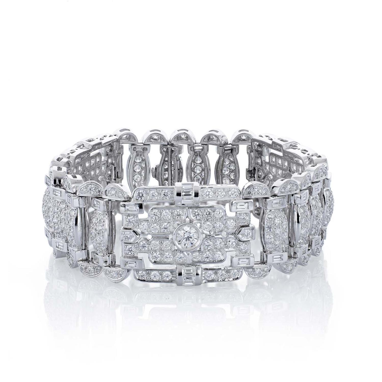 Sensi joyas jewellery Granada silver engagement8K WHITE GOLD BRACELET, 15.01 CTS OF DIAMONDS