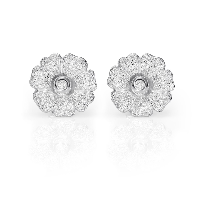 Sensi joyas alta joyería Granada plata compromiso PENDIENTES DE ORO BLANCO DE 18K  1,62CT DE DIAMANTES