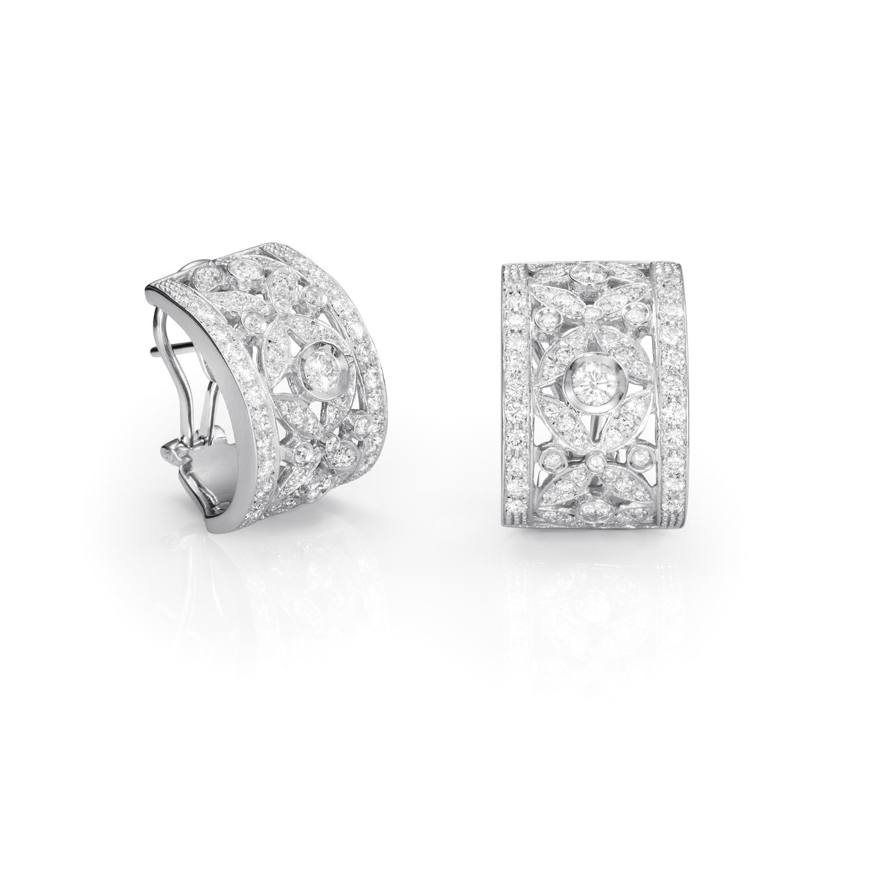 Sensi joyas alta joyería Granada plata compromiso PENDIENTES DE ORO BLANCO DE 18K  2,20CT DE DIAMANTES