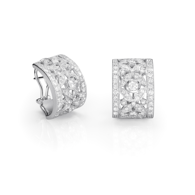Sensi joyas jewellery Granada silver engagement18K WHITE GOLD EARRINGS 2,20CT OF DIAMONDS.