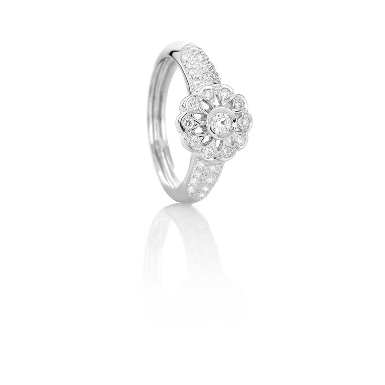 Sensi joyas alta joyería Granada plata compromiso ANILLO DE ORO BLANCO DE 18K  BRILLANTES 0,50 CTS