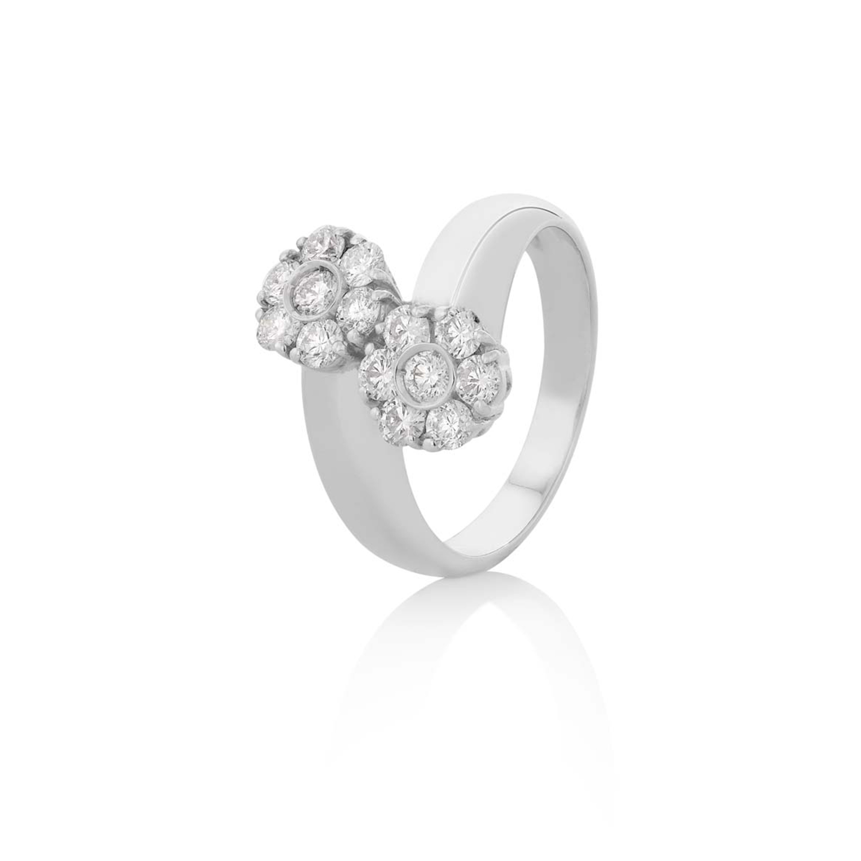 Sensi joyas alta joyería Granada plata compromiso ANILLO DE ORO BLANCO DE 18K BRILLANTES 1,00 CTS