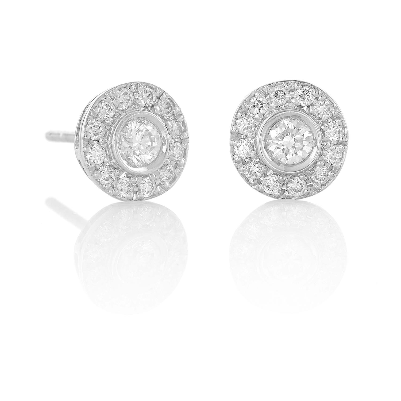 Sensi joyas alta joyería Granada plata compromiso PENDIENTES ORO 18K  BRILLANTES 0,60 CTS