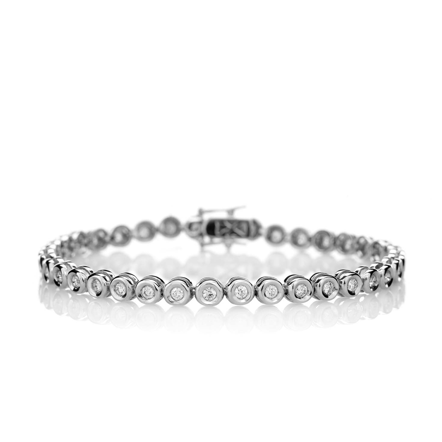 Sensi joyas jewellery Granada silver engagement18K WHITE GOLD BRACELET DECORATED WITH 1.65CT OF BRILLIANT SIZE DIAMONDS.