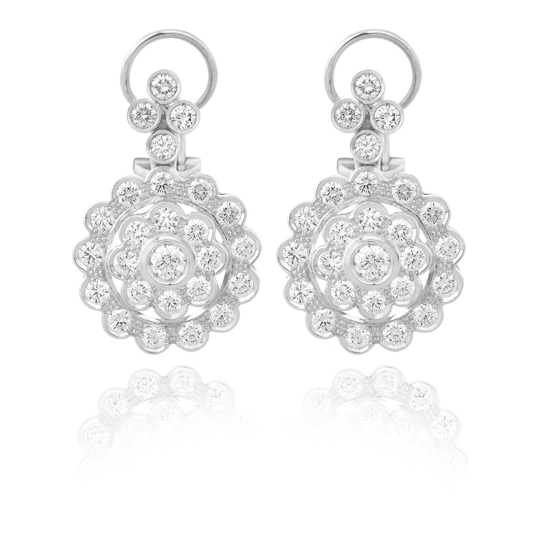 Sensi joyas alta joyería Granada plata compromiso PENDIENTES ORO 18K BRILLANTES 3,65 CTS