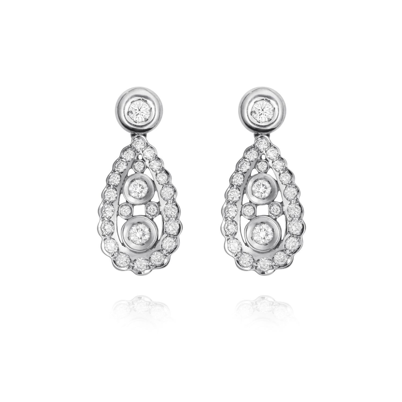 Sensi joyas jewellery Granada silver engagement18K GOLD EARRINGS DIAMOND 1.70 CTS