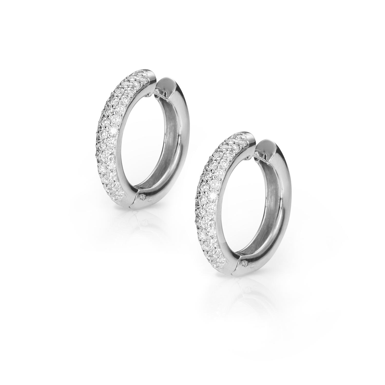 Sensi joyas jewellery Granada silver engagement18K GOLD EARRINGS DIAMONDS 0.73 CTS