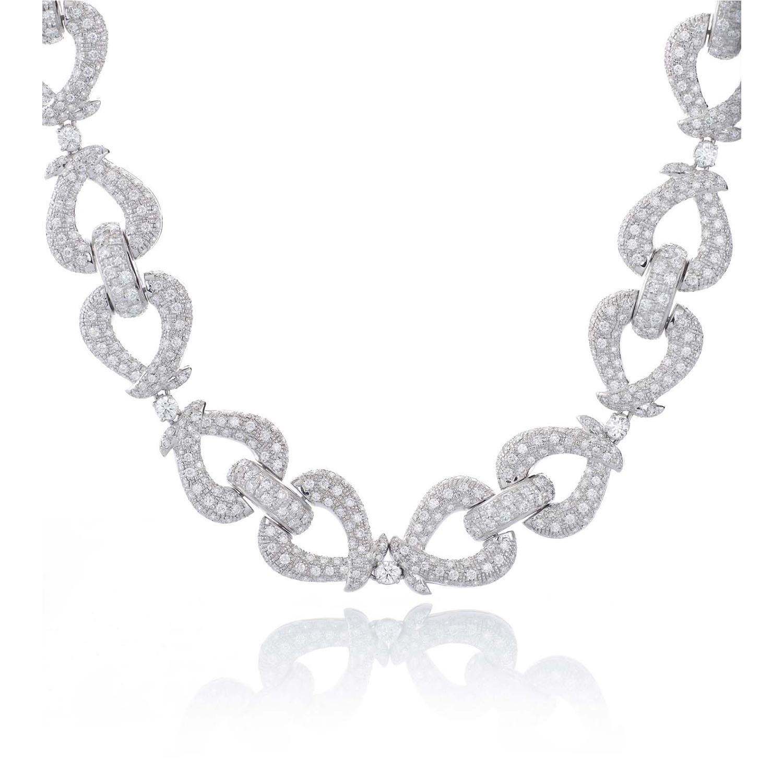 Sensi joyas alta joyería Granada plata compromiso COLLAR ORO BLANCO 18K  BRILLANTES 25,30 CTS
