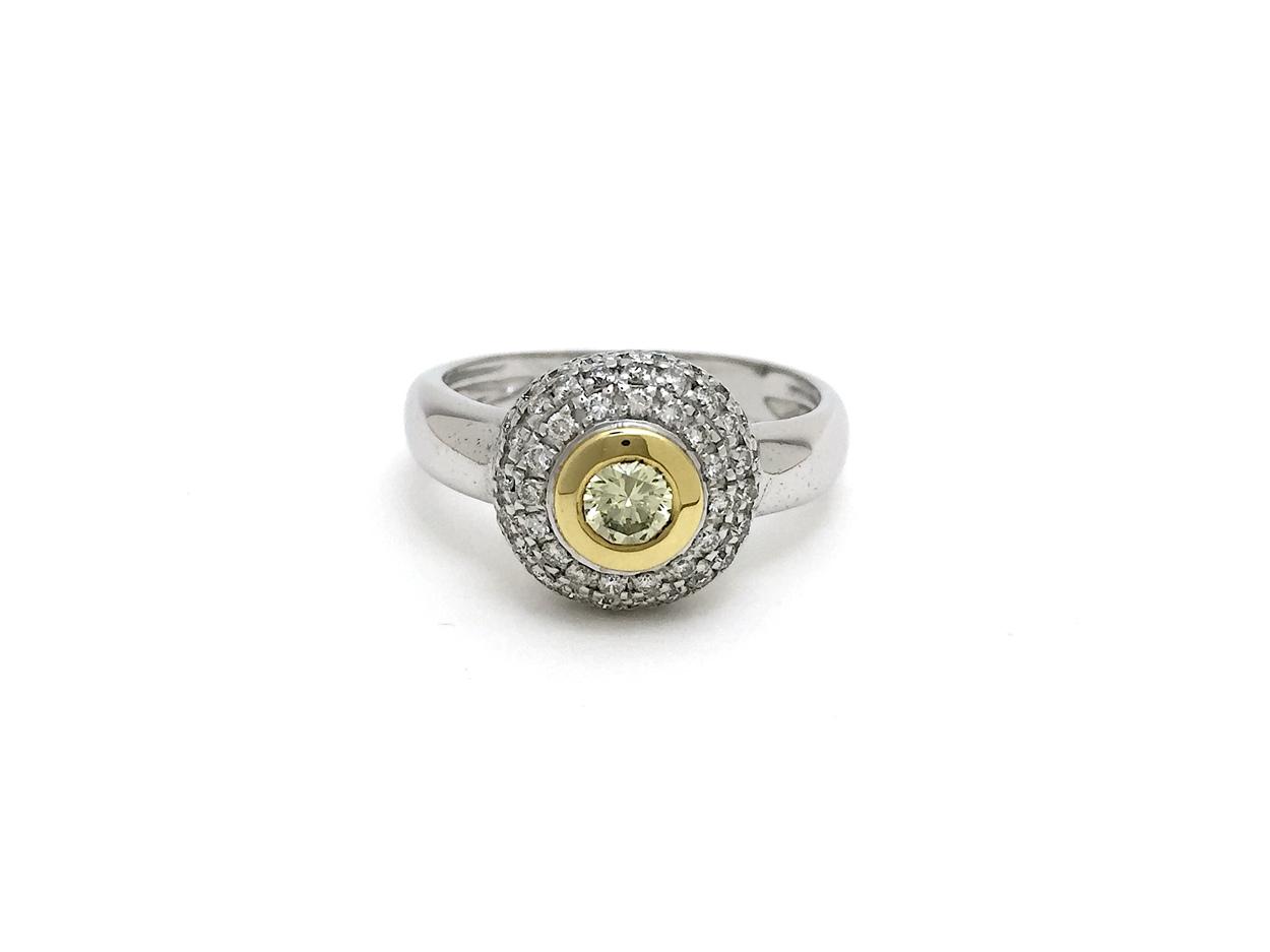 Sensi joyas alta joyería Granada plata compromiso ANILLO ORO 18K  BRILLANTES 0,90CTS