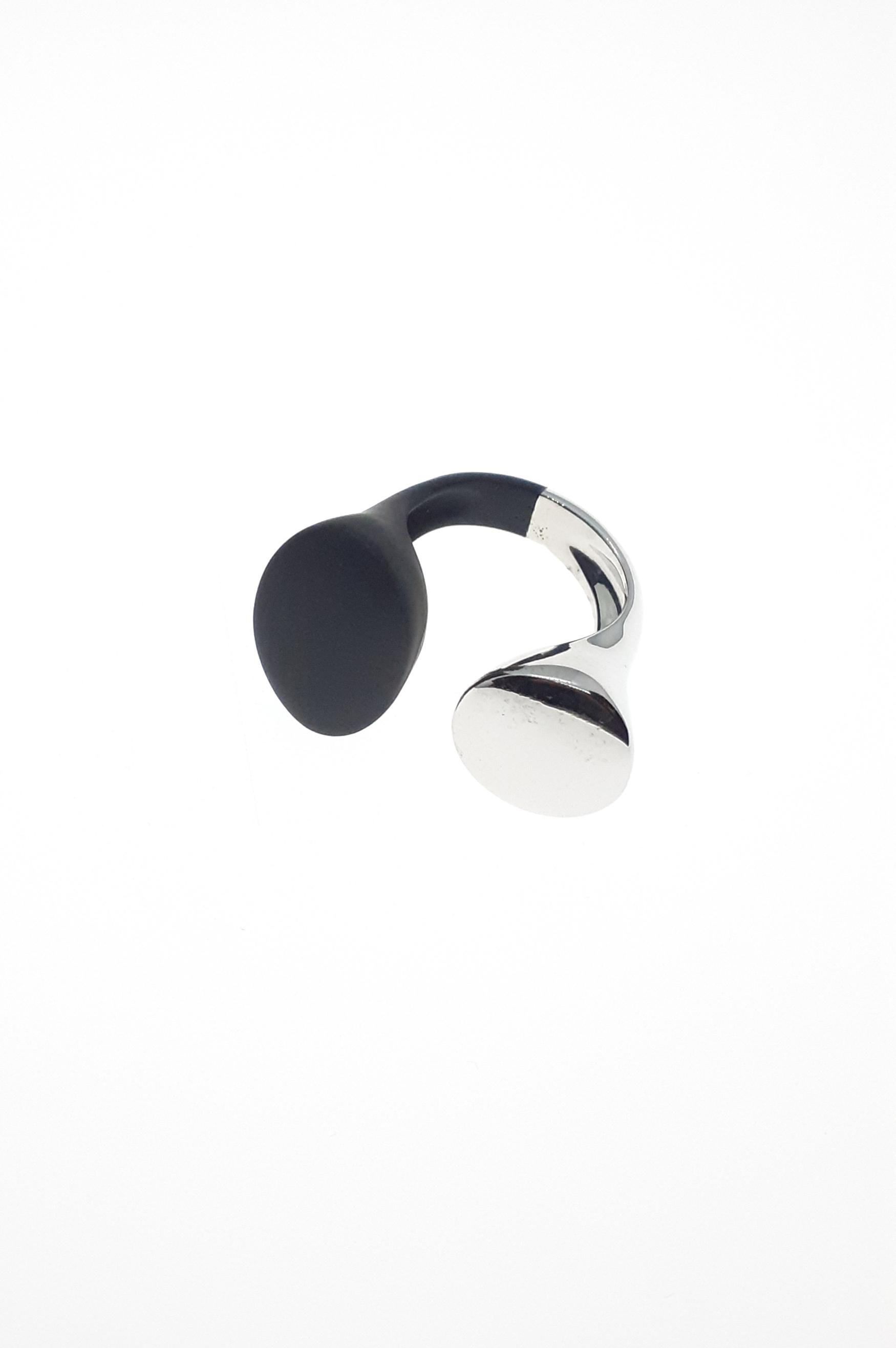 Sensi joyas jewellery Granada silver engagementSILVER AND RUBBER RING