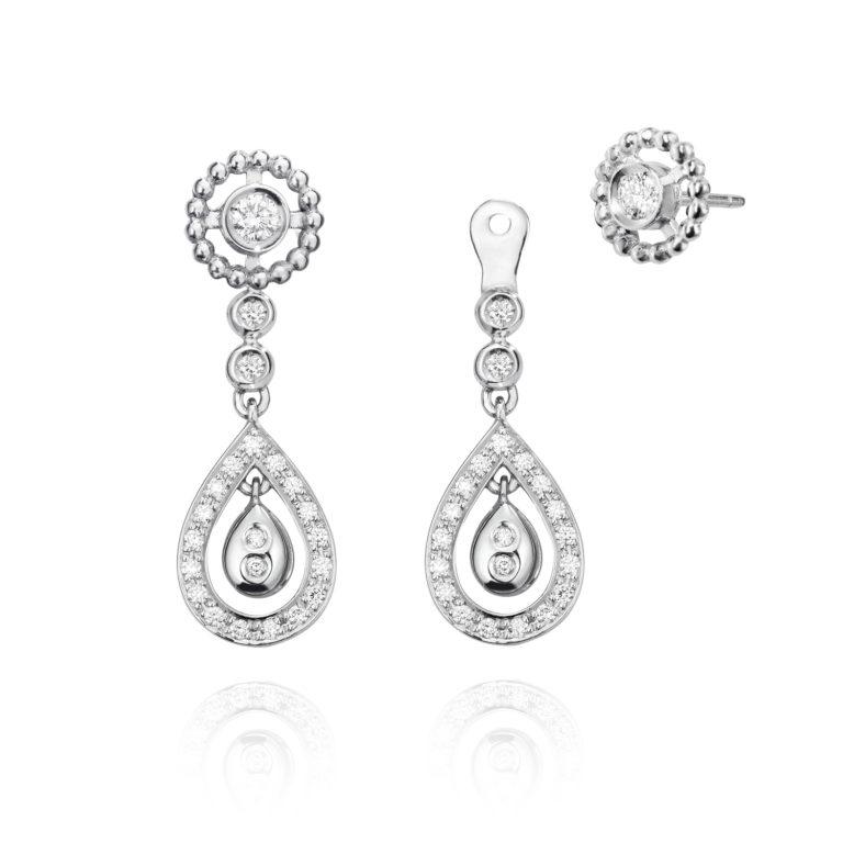 Sensi joyas jewellery Granada silver engagement18K  GOLD EARRINGS WITH 0,51 CTS DIAMONDS