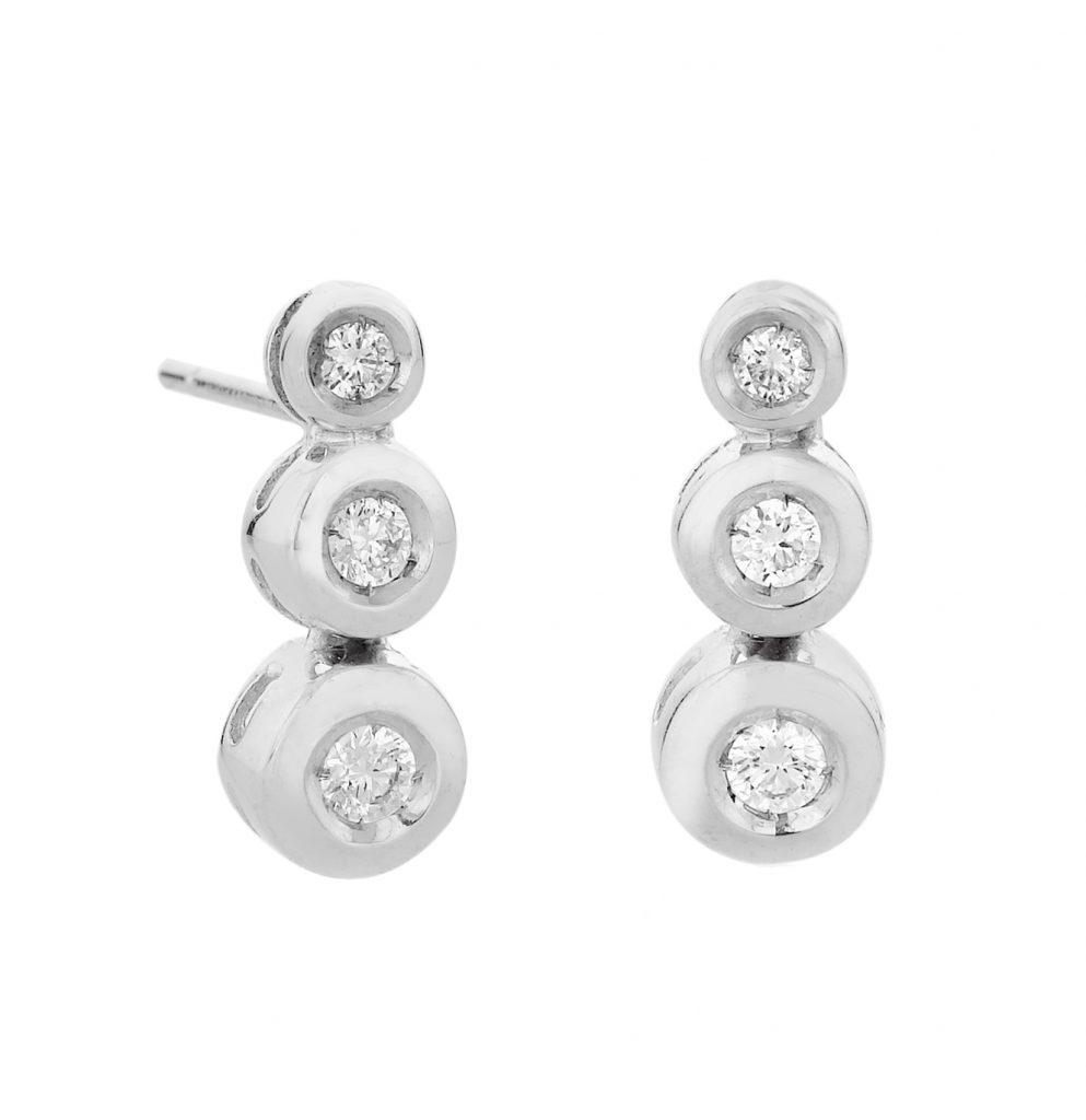 Sensi joyas jewellery Granada silver engagement18K  GOLD EARRINGS WITH 0.40 CTS DIAMONDS