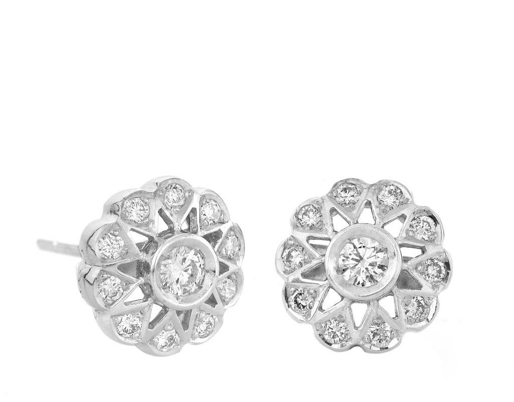 Sensi joyas jewellery Granada silver engagement18K  GOLD EARRINGS WITH 0,48 CTS DIAMONDS