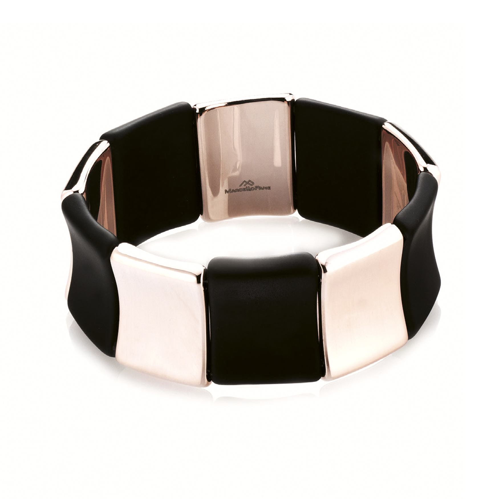 Sensi joyas jewellery Granada silver engagementSILVER BRACELET COVERED WITH  ROSE GOLD AND RUBBER